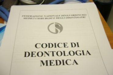Nuovo Codice deontologico per i medici d'Italia