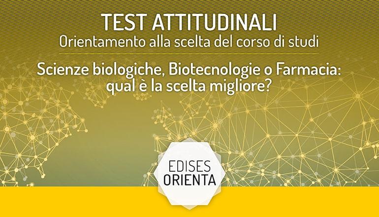 test orientamento facoltà scientifiche