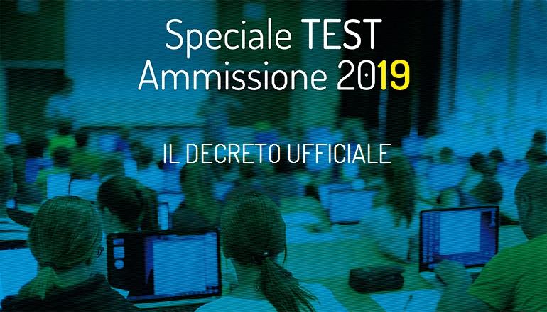 test di ammissione 2019