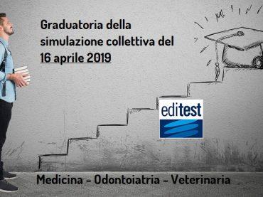 Test Medicina 2019: graduatoria della simulazione collettiva del 16 aprile