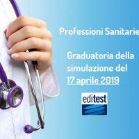 Test Professioni Sanitarie 2019: graduatoria della simulazione del 17 aprile
