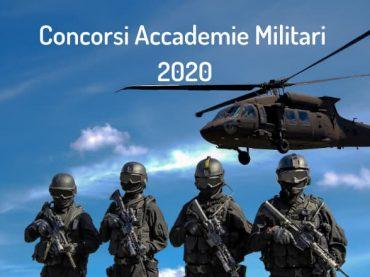 Concorsi Accademie Militari 2020: pubblicato il bando