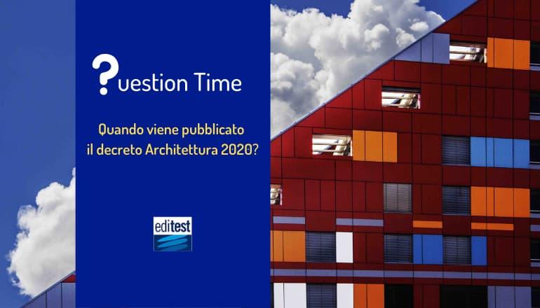 decreto test architettura 2020