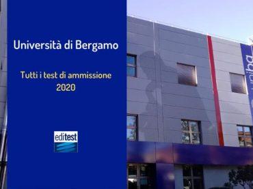 Università di Bergamo: test di ammissione per tutti i corsi di laurea 2020