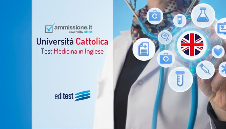 test medicina inglese cattolica 2020