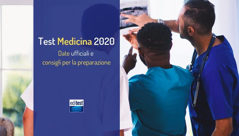 date test medicina 2020