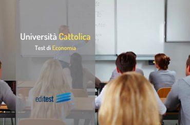 Test Economia Cattolica 2020: le prove si svolgeranno online