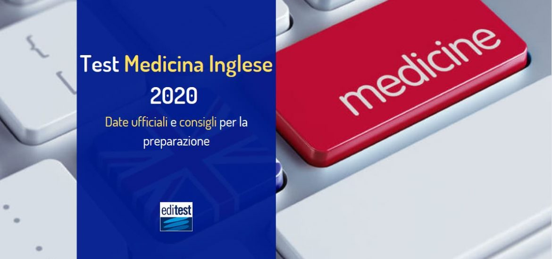test medicina inglese 2020