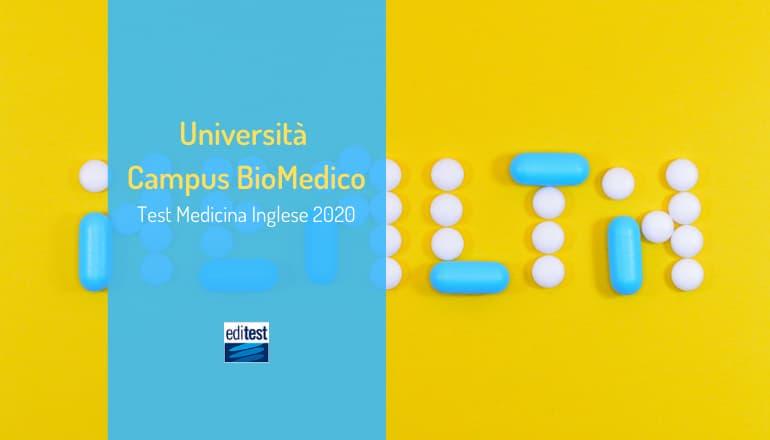 test medicina inglese campus biomedico