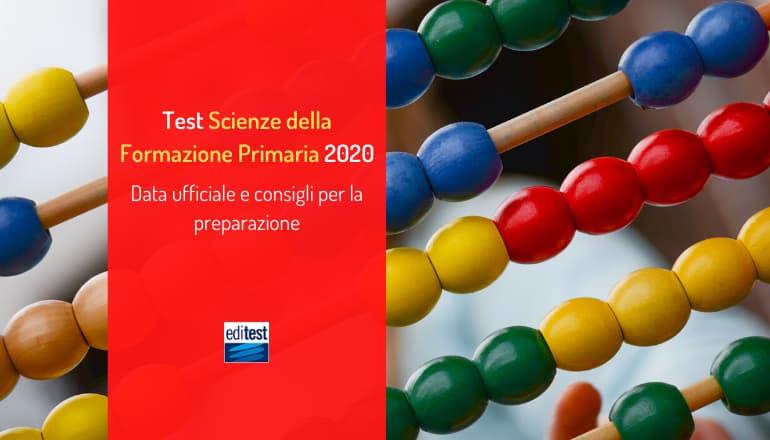 test scienze della formazione primaria 2020