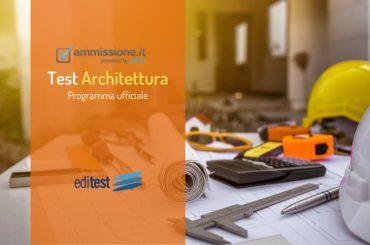 Programma Test Architettura 2020: gli argomenti da studiare