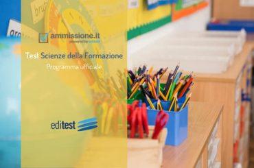 Programma test Scienze Formazione Primaria: gli argomenti da studiare