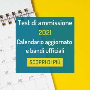 date test ammissione 2021