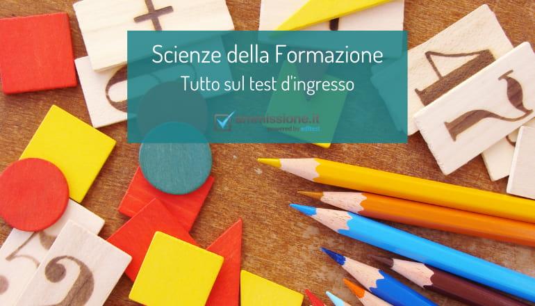 ammissione scienze della formazione
