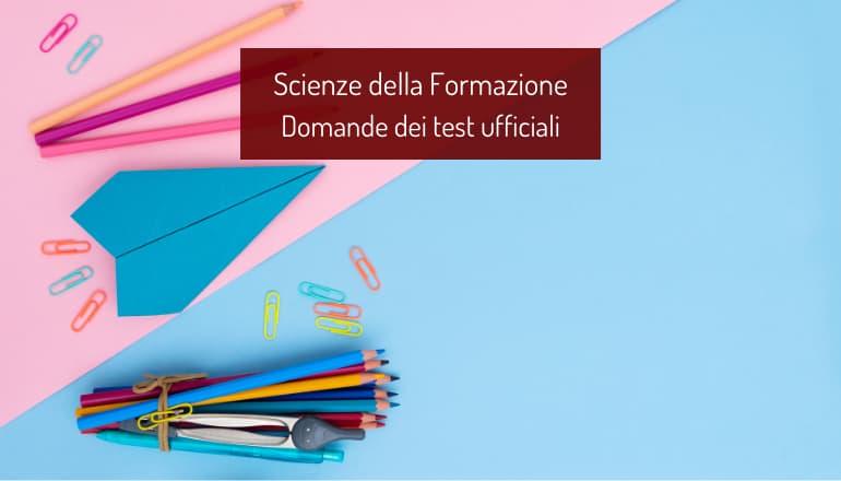 test scienze della formazione primaria