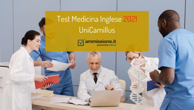 test medicina inglese unicamillus