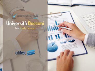 Early Session Bocconi 2021/2022: test online a partire dal 10 ottobre