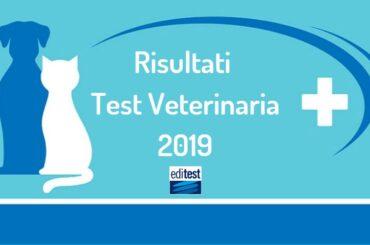 Risultati anonimi test Veterinaria 2019