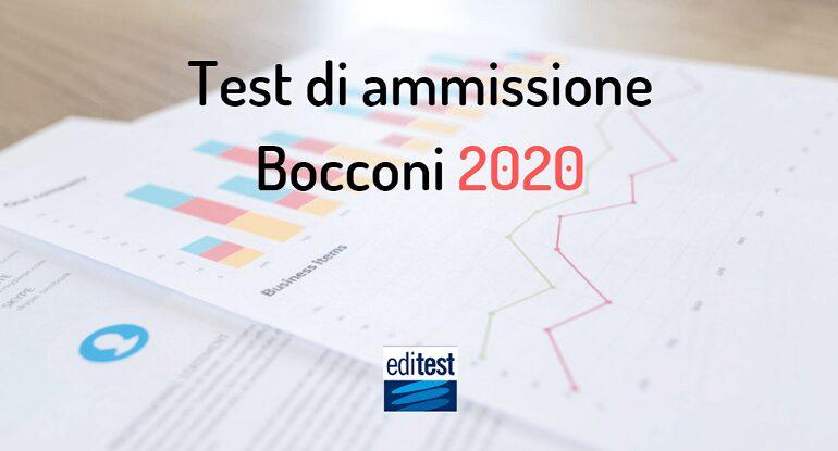 test ammissione bocconi 2020
