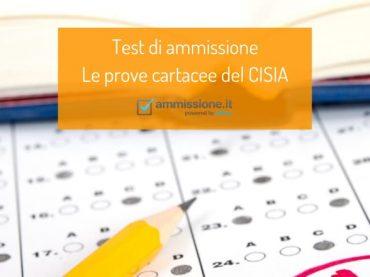 Test di ammissione CISIA: le prove cartacee