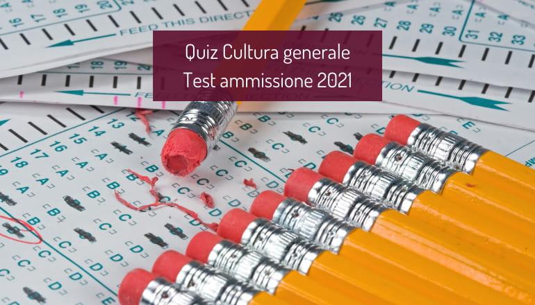 test cultura generale università