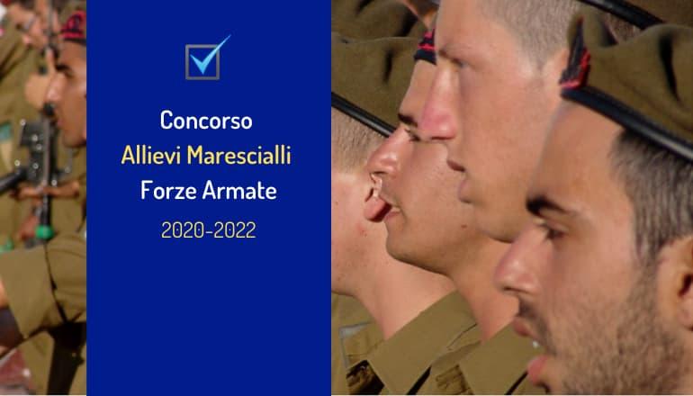 concorso 439 allievi marescialli forze armate 2020