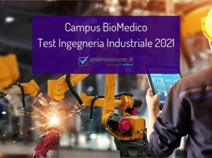 Campus BioMedico 2021: procedure di ammissione a Ingegneria Industriale