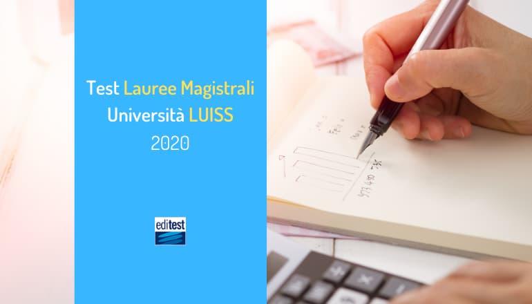 test magistrali luiss 2020