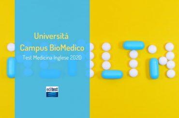 Campus BioMedico di Roma: Test Medicina Inglese il 29 luglio!