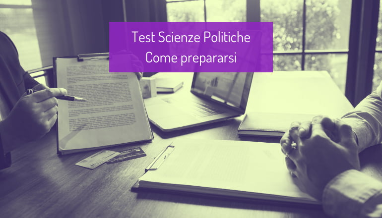 test scienze politiche