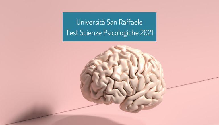 test scienze psicologiche san raffaele 2021