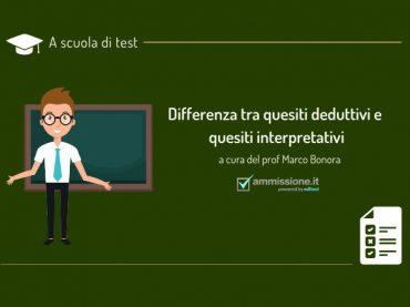 Test di ammissione: differenza tra quesiti deduttivi e interpretativi
