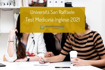 Test Medicina Inglese San Raffaele 2021: il decreto ufficiale