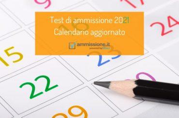 Date test ammissione 2021: il calendario aggiornato