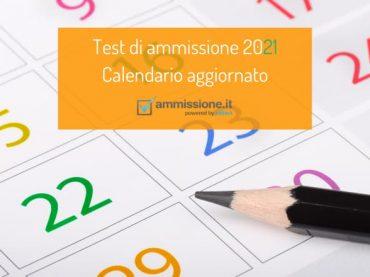 Date test ammissione 2020/2021: il calendario aggiornato