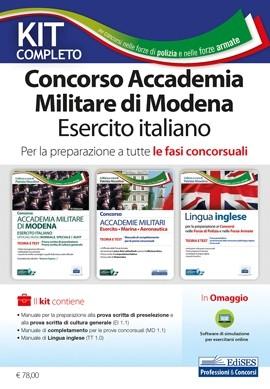 kit concorso accademia militare esercito modena