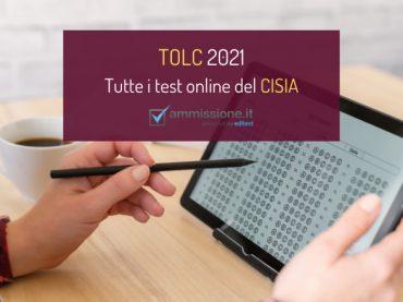 Test TOLC 2021: tutte le prove online del CISIA