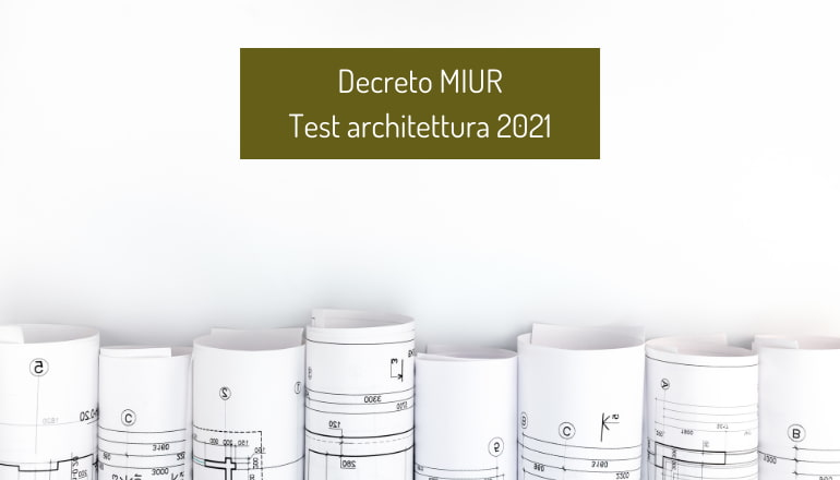decreto test architettura 2021
