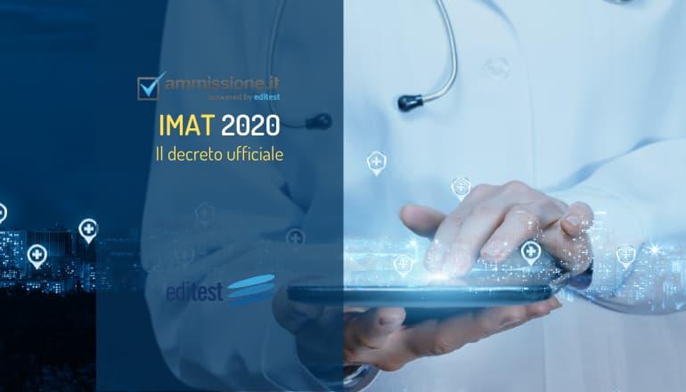 decreto test medicina inglese 2020