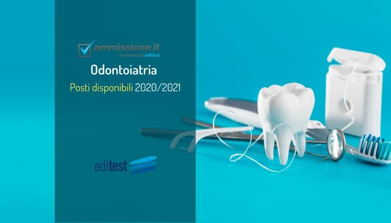 posti disponibili odontoiatria 2020