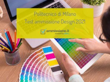 Design al Politecnico di Milano: come prepararsi al test di ammissione 2021