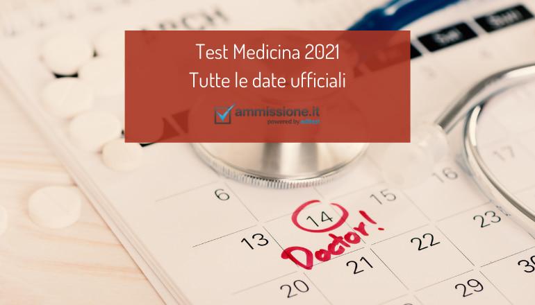 date test medicina 2021
