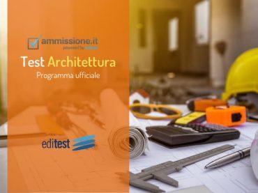 Programma Test Architettura: gli argomenti da studiare