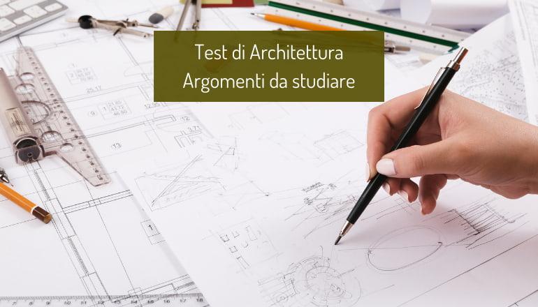 programma test architettura 2021
