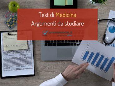 Programma Test Medicina: quali sono gli argomenti da studiare?