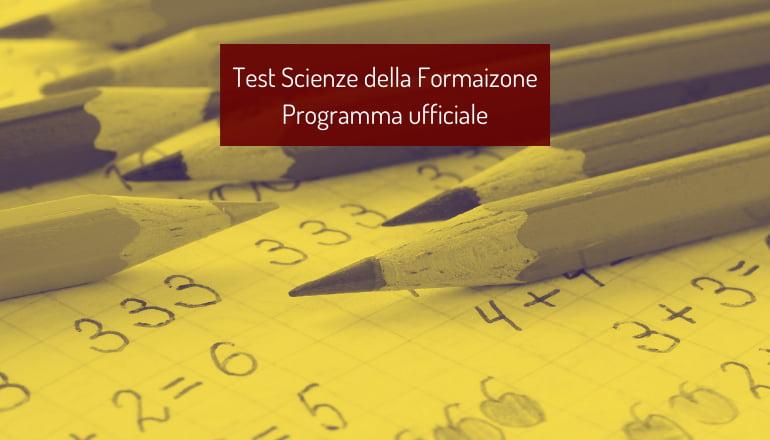 programma test scienze della formazione primaria