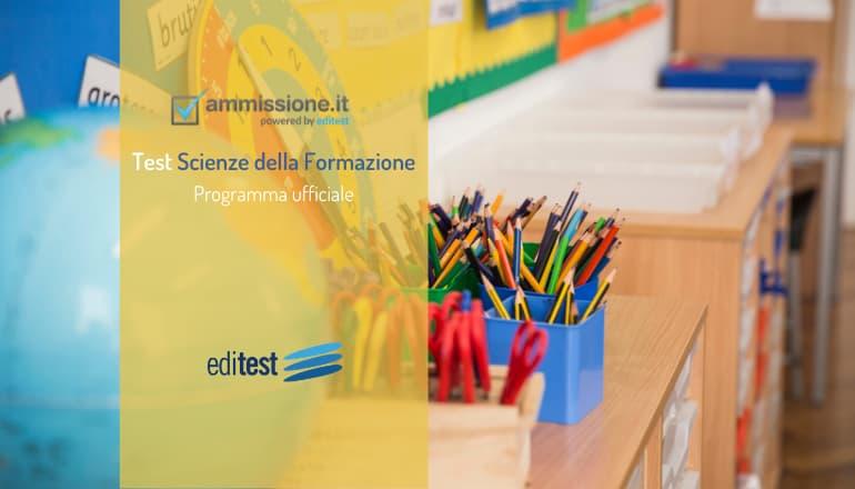 programma test scienze formazione primaria