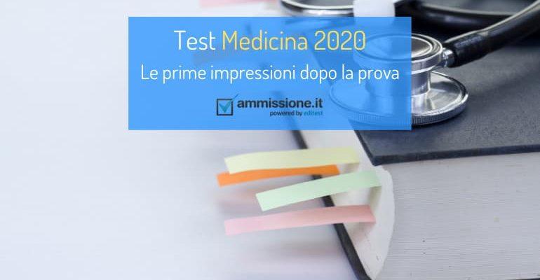 Test Medicina 2020: le prime impressioni dopo la prova