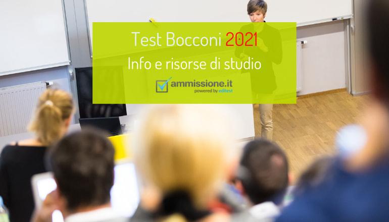 Test Bocconi 2021: date ufficiali e libri per prepararsi