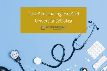 Università Cattolica: le date del test Medicina Inglese 2021